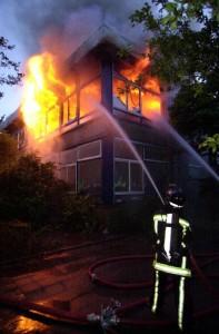 Brand op etage