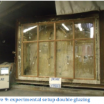 experimental setup double glazing