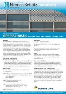Opfriscursus_metalen gevels en daken_2