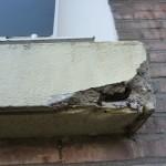 Galerij balkons schade detail