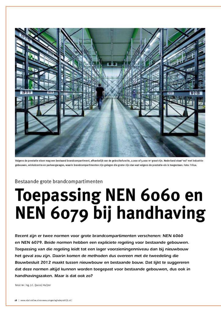 Toepassing NEN 6060 en 6079 bij handhaving
