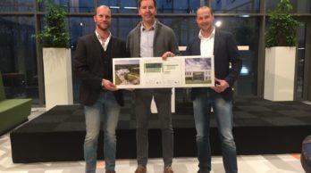 Opening v.l.n.r Ronald Pool, Peter van der Spelt (VanWijnen) en Martin Dunnink