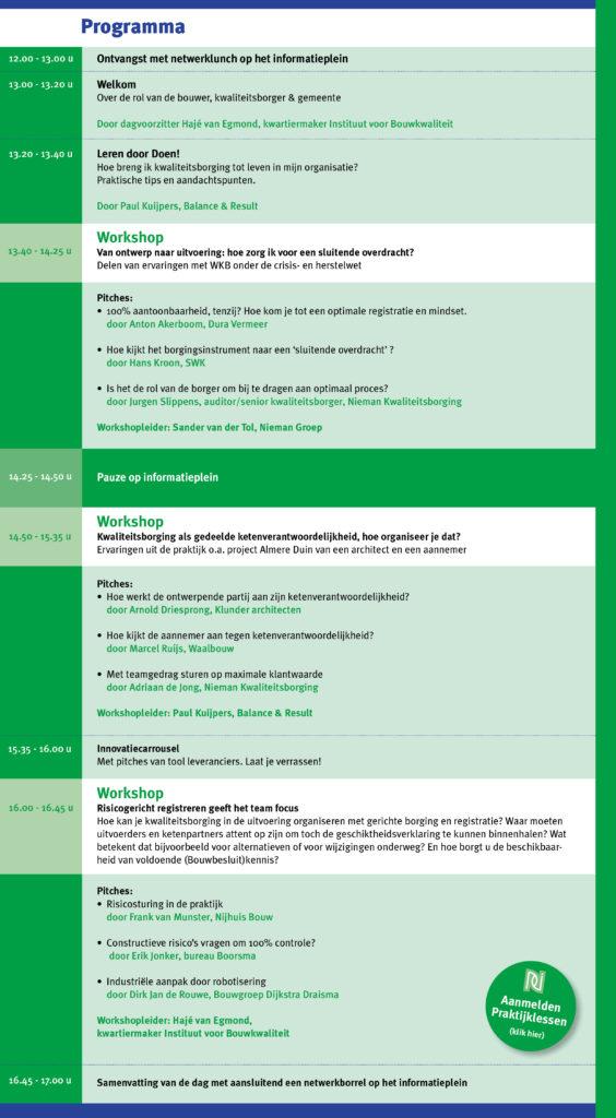 Programma 2de Praktijkdag_kwalteitsborging 11-10-2017