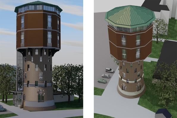 Watertoren Zwolle impressie