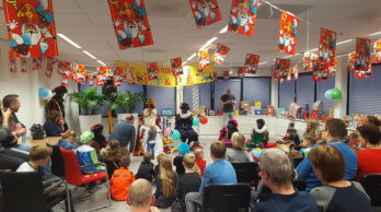 Sinterklaas op bezoek bij Nieman Groep