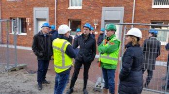 Werkbezoek ministerie BZK het kwaliteitsborgingsproject Schoemaker Plantage in Delft