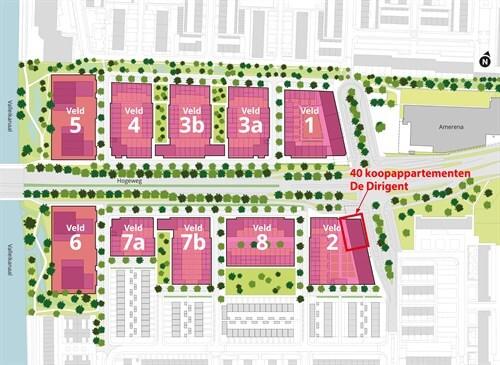 Situatie nieuwe stadswijk Hogekwartier