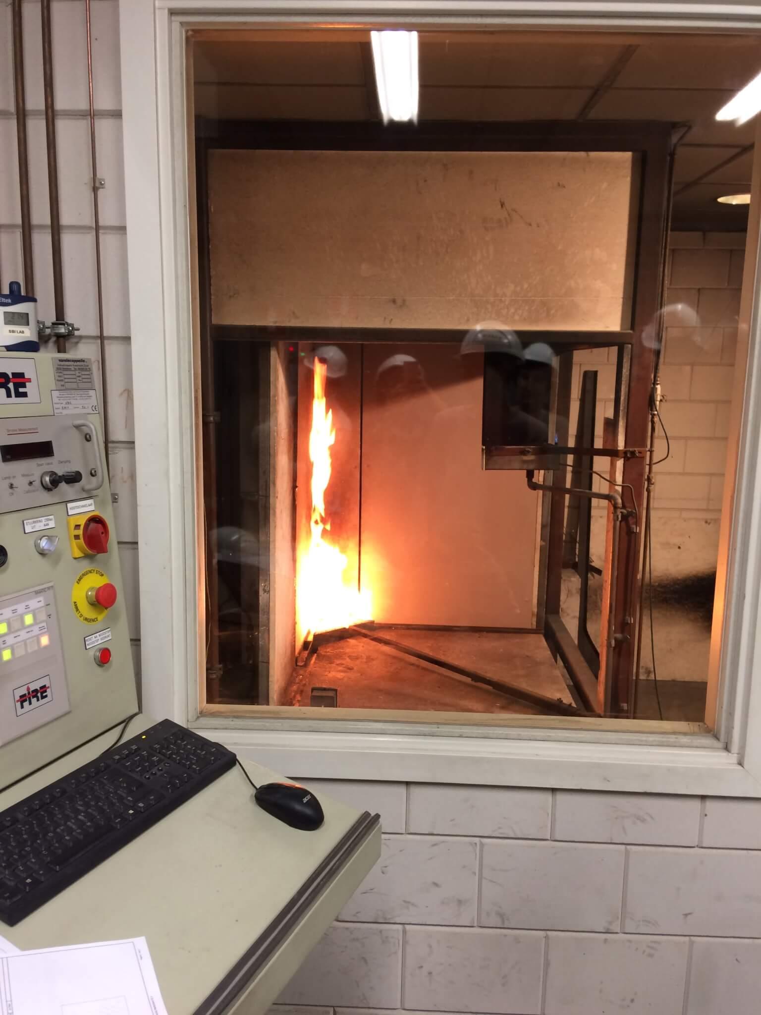 Opstelling testmethode brandklasse