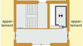 Plattegrond situatie noodverlichtin appartementengebouw.j