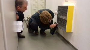 Inspectie brandklep door Synneva