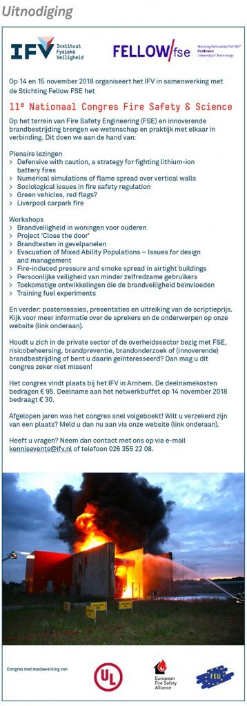 11de nationaal Congres Fire Safety & Science