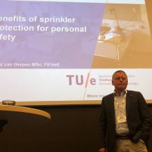 Ruud van Herpen op Fire Sprinkler International 2018 Stockholm