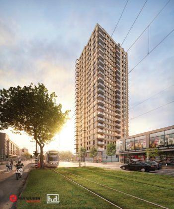 Woontoren De Hoge Regentesse, impressie HD architecten en Van Wijnen
