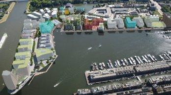 Luchtfoto bewerkt Cruquius Amsterdam