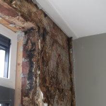 Ook het hout in de negge is aangetast door houtrot.