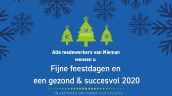 Alle medewerkers van Nieman wensen u fijne feestdagen