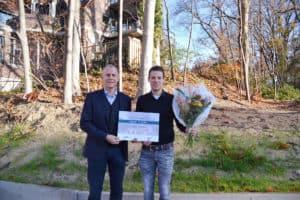 IFV-VVBA scriptieprijs 2018 juryvoorzitter dr. Paul Verlaan en winnaar Nick Tenbült
