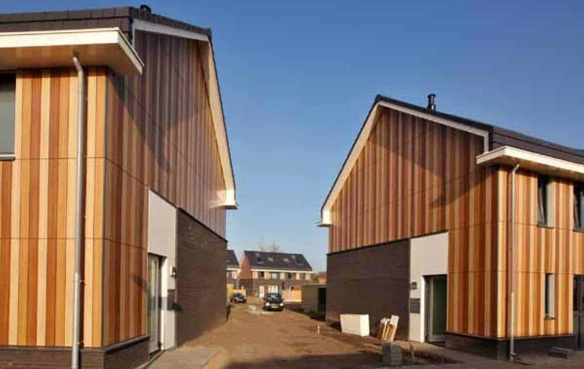 Passief bouwen met gebruik van hout