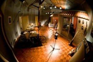 Een opnamestudio; een en al akoestiek
