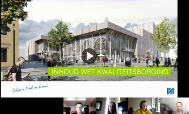 Livestream met studenten over de Wet Kwaliteitsborging 24-03-2020