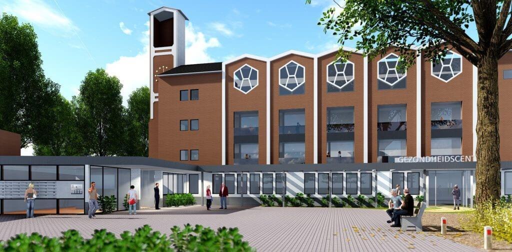 Impressie entree woonzorgappartementen De Klokkenbelt Almelo