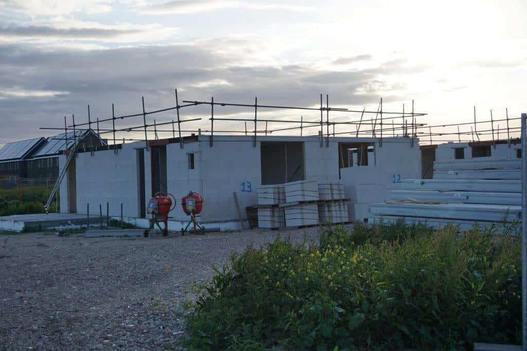 Nieuwbouw woning in aanbouw