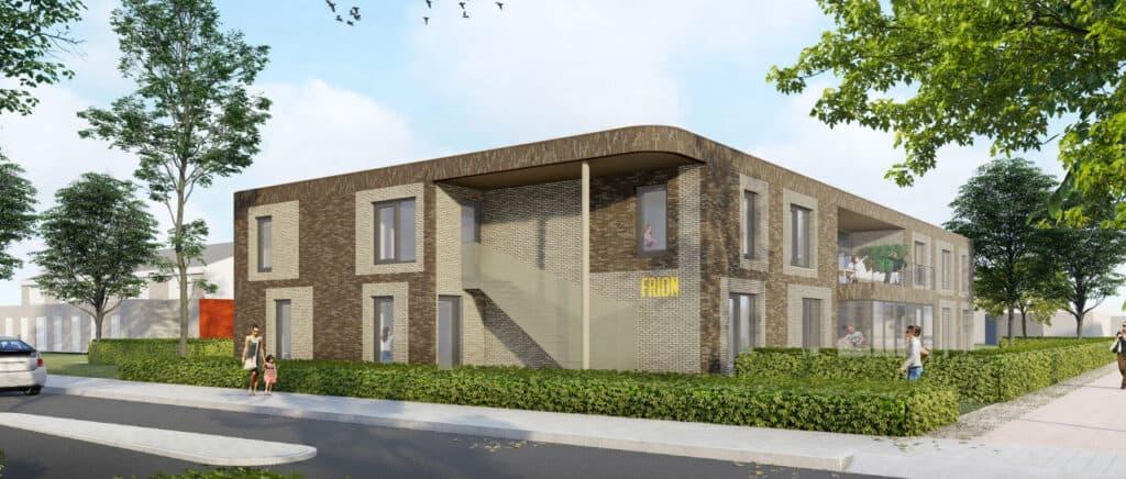 Impressie energiezuinige en huiselijke nieuwbouw Frion Zwolle door BDG architecten